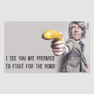 I Challenge You To A Banana Duel - Parking Note Rectangular Sticker