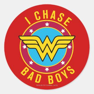 I Chase Bad Boys Sticker