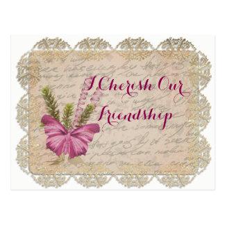 I Cherish our Friendship Postcard