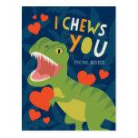 I Chews You! Classroom Valentine Postcard