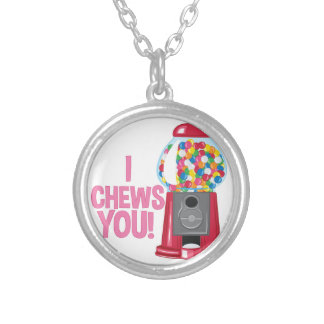 I Chews You Silver Plated Necklace