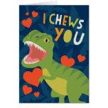 I Chews You! Valentine Greeting Card