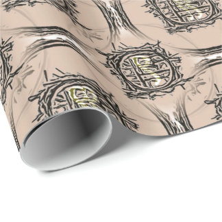 I-Ching Buff Design Wrapping Paper