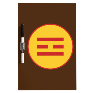 I Ching Fire Trigram (Li) Dry Erase Board