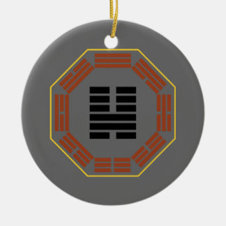 "I Ching Hexagram 46 Sheng ""Ascending"" Ceramic Ornament"