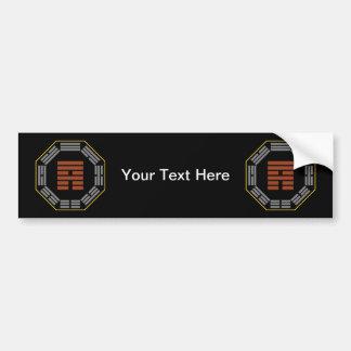 """I Ching Hexagram 53 Chien """"Development"""" Bumper Sticker"""