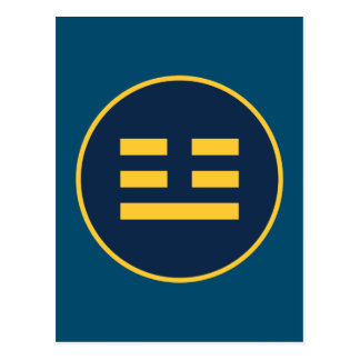 I Ching Thunder Trigram (Zhen) Postcard