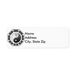I Ching YinYang Return Address Label