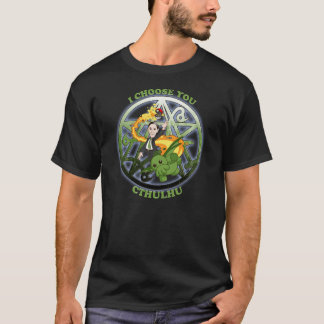 I Choose Cthulhu: Green T-Shirt