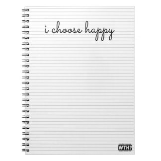 I Choose Happy Spiral Note Book