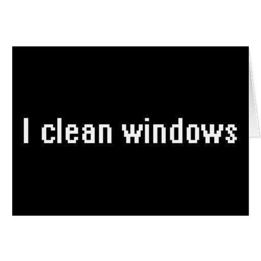 I clean windows card