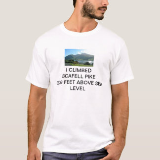 I CLIMBED SCAFELL PIKE 3209 FEET ABOVE SEA LEVEL T-Shirt