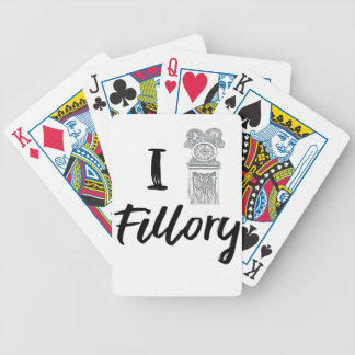 I (Clock) Fillory Bicycle Playing Cards