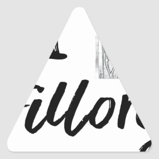 I (Clock) Fillory Triangle Sticker