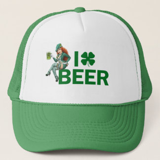 I (clover) BEER Trucker Hat