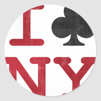 I Club NY Classic Round Sticker