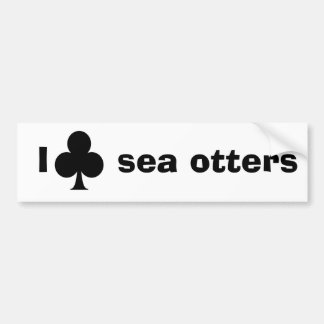 I club sea otters bumper sticker