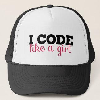 I code like a girl trucker hat