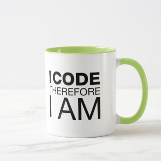 I Code Therefore I Am Mug