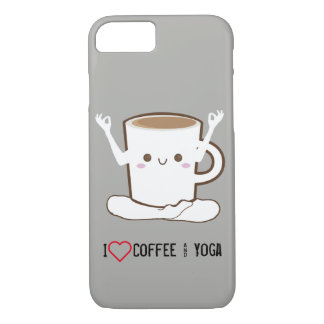 I ❤ Coffee and Yoga iPhone 8/7 Case