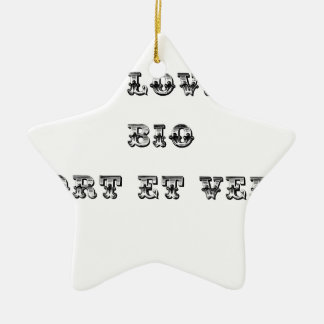 I coils Bio (EXTREMELY AND GREEN) - Word games Ceramic Ornament