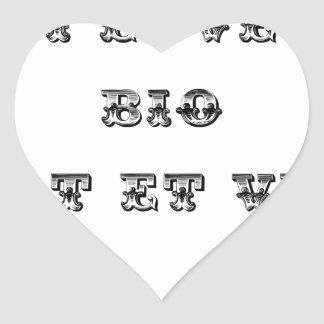 I coils Bio (EXTREMELY AND GREEN) - Word games Heart Sticker