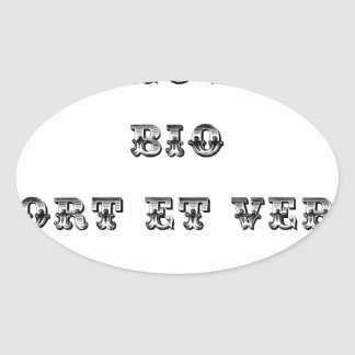 I coils Bio (EXTREMELY AND GREEN) - Word games Oval Sticker