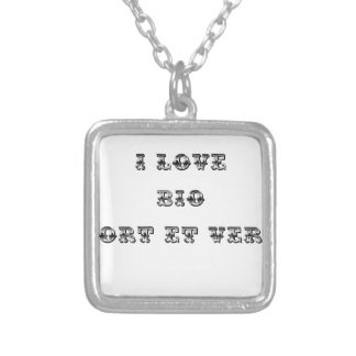 I coils Bio (EXTREMELY AND GREEN) - Word games Silver Plated Necklace