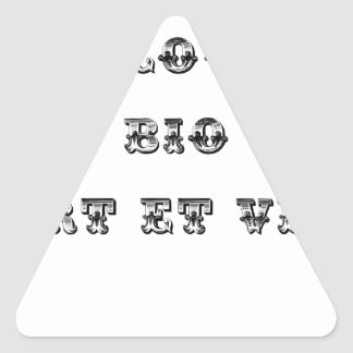 I coils Bio (EXTREMELY AND GREEN) - Word games Triangle Sticker