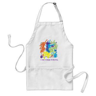 I color outside of the box apron