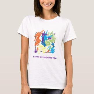 I color outside the box t-shirt