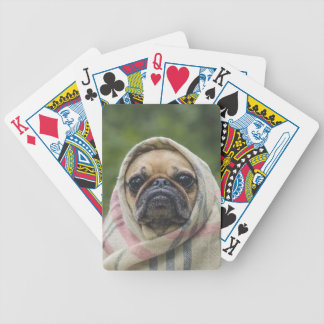 I Come in peace pug dog Bicycle Playing Cards