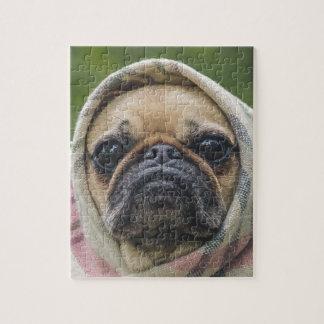 I Come in peace pug dog Jigsaw Puzzle