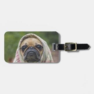 I Come in peace pug dog Luggage Tag
