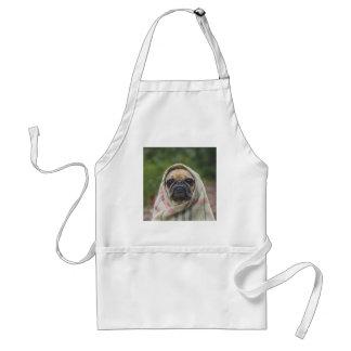 I Come in peace pug dog Standard Apron