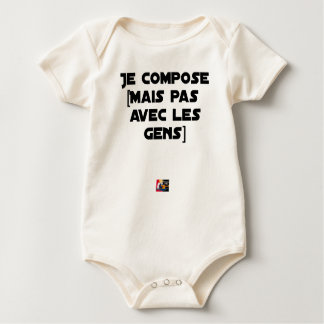 I COMPOSE (BUT NOT WITH PEOPLE) - Word games Baby Bodysuit