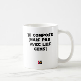I COMPOSE (BUT NOT WITH PEOPLE) - Word games Coffee Mug
