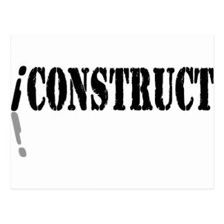 I Construct Postcard