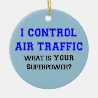 I control air traffic ceramic ornament