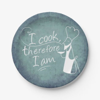 I Cook, Therefore I Am 7in Paper Plates