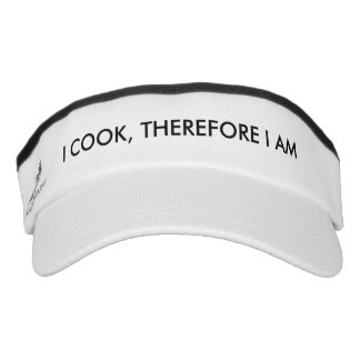 I Cook Therefore I Am Visor