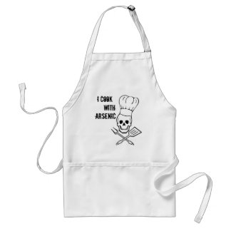 'I cook with arsenic' chef's apron