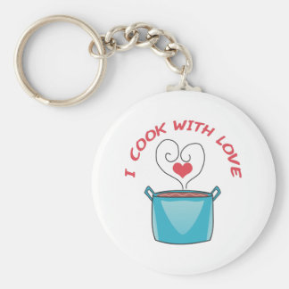 I COOK WITH LOVE KEY RING