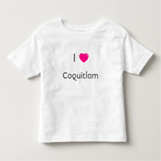 I 💖 Coquitlam Toddler T-Shirt