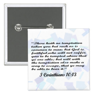 I Corinthians 10:13 button