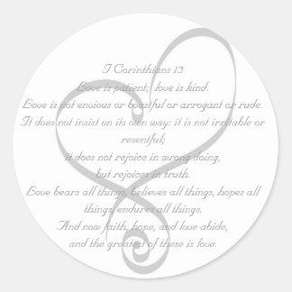 I Corinthians 13 Love/Wedding Sticker