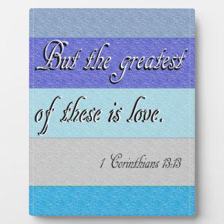 I Corinthians 13 Plaque