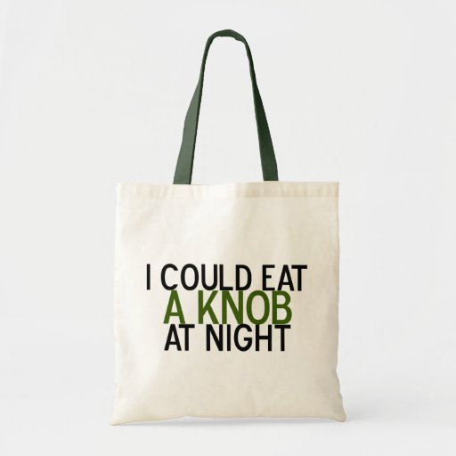 I Could Eat a Knob at Night Canvas Bag