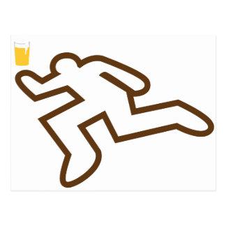 I could murder a beer postcard