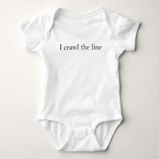 I Crawl the line Baby Bodysuit
